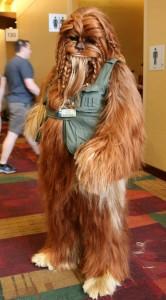 Leah's Wookiee costume premiere